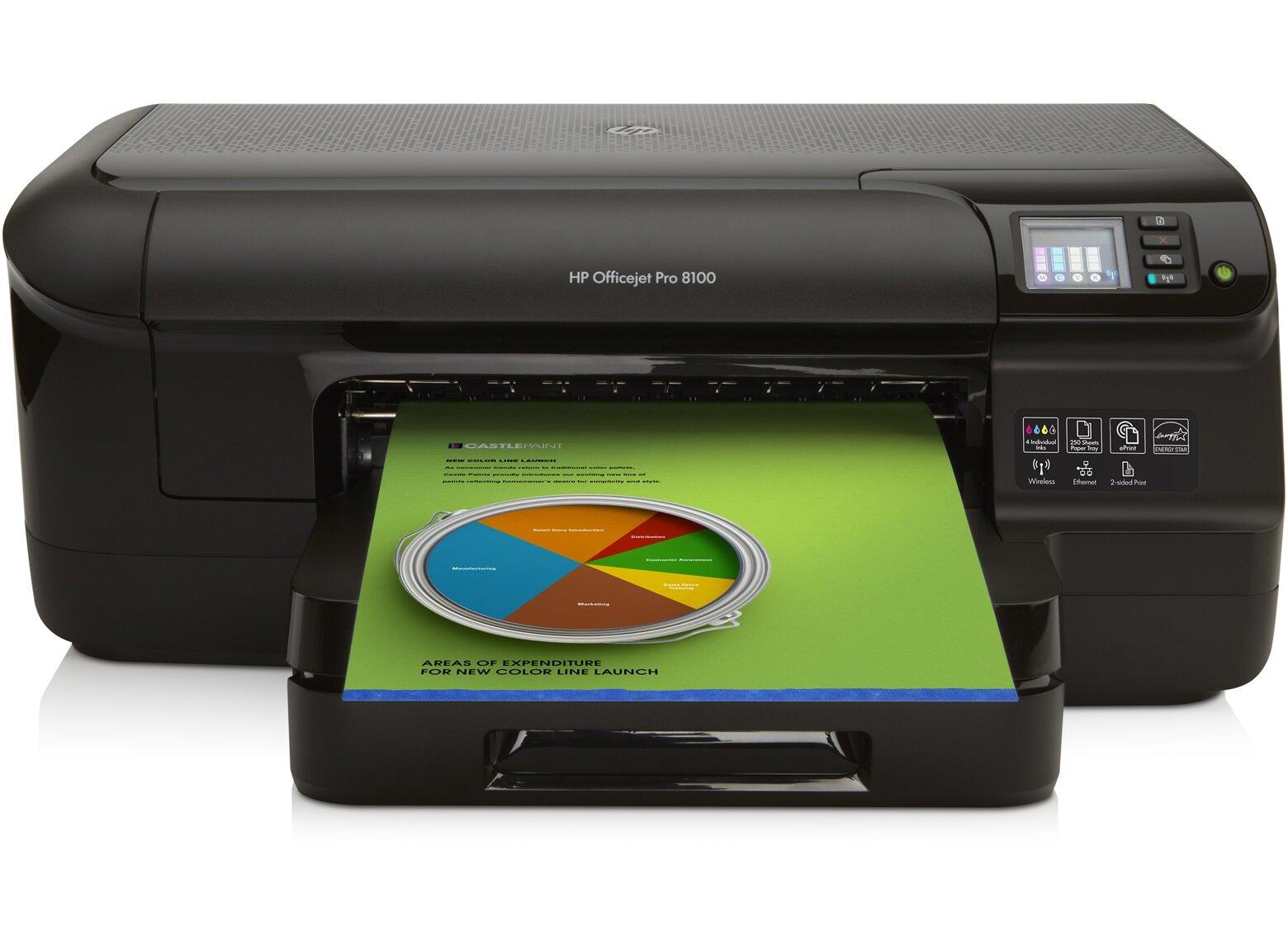 Đánh giá máy in đa năng HP Officejet Pro 8100