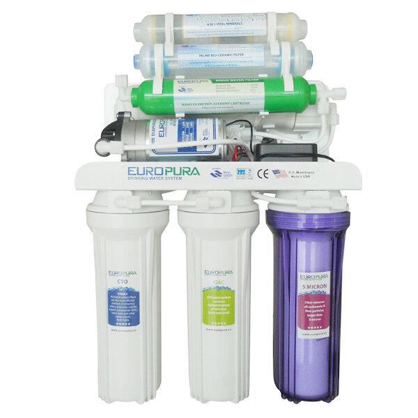 Đánh giá máy lọc nước RO EUROPURA EU107 – 7 cấp lọc (lõi hồng ngoại + lõi khoáng 4in1)