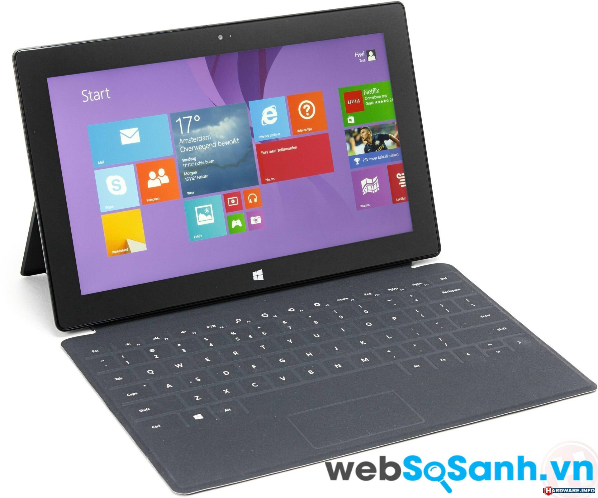 Đánh giá máy tính bảng Microsoft Surface Pro 2 trải nghiệm thiết kế mới