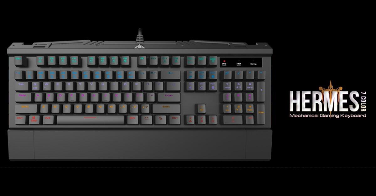 Đánh giá nhanh bàn phím cơ Gamdias Hermes 7 Color (GKB3000)