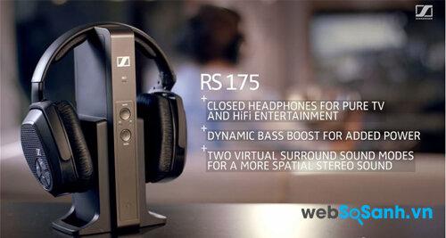 Đánh giá nhanh bộ tai nghe không dây Sennheiser RS 175 RF