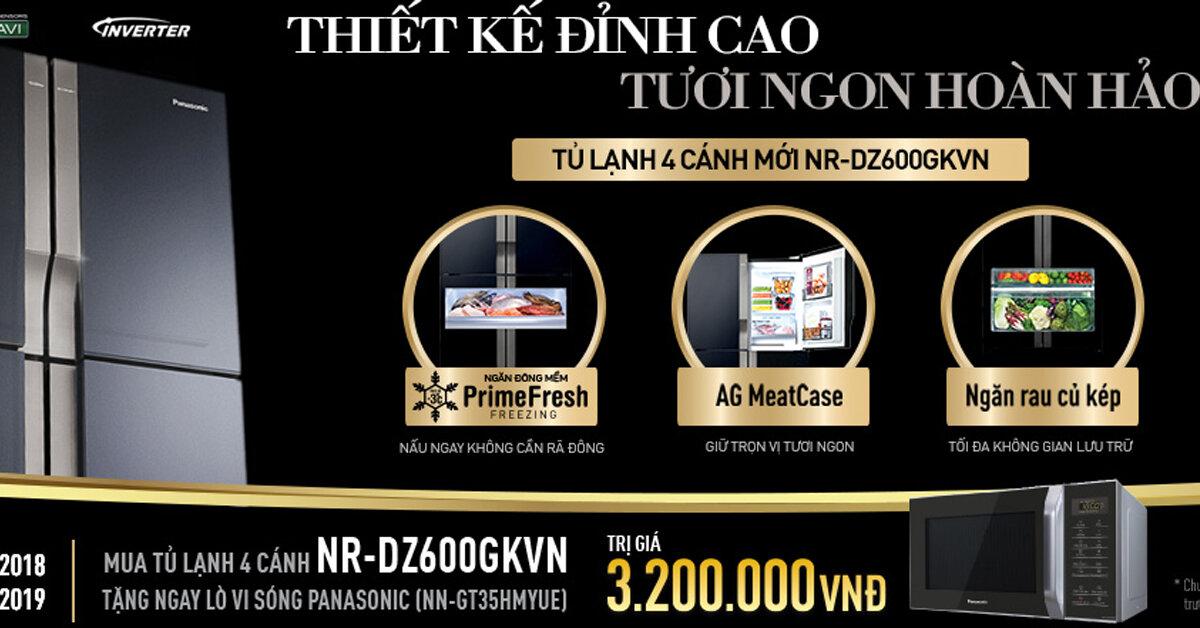 Đánh giá review tủ lạnh 4 cánh mới NR-DZ600GKVN của Panasonic – Thiết kế đỉnh cao, tươi ngon hoàn hảo