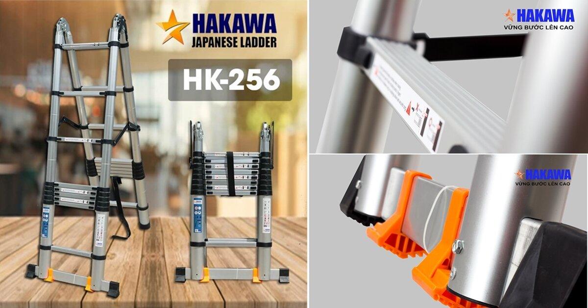 Đánh giá thang nhôm gia đình Hakawa HK-256: Đa năng, bền bỉ, an toàn trên mọi địa hình