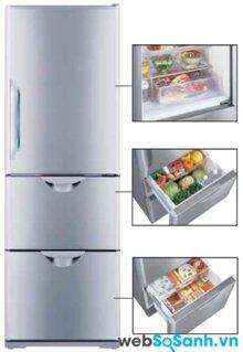 Đánh giá tủ lạnh tiết kiệm điện Hitachi R-S37SVG
