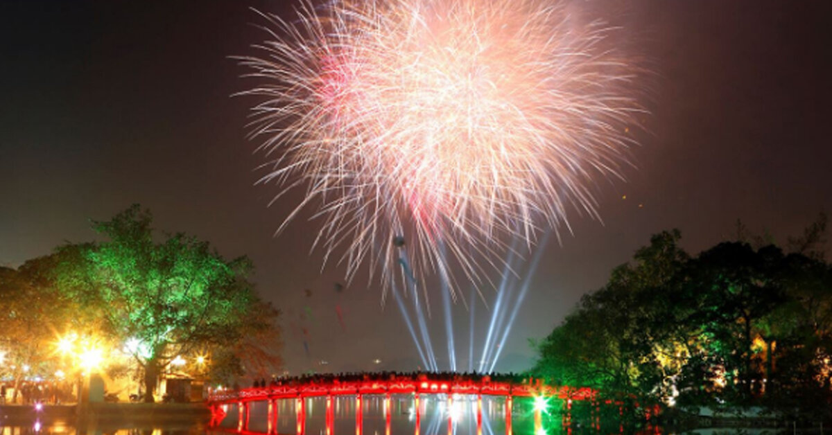 Danh sách 32 địa điểm bắn pháo hoa đêm giao thừa Mậu Tuất 2018 tại Hà Nội