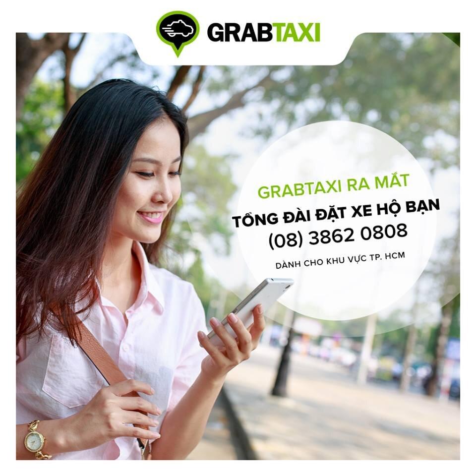 Đặt GrabTaxi trực tiếp qua tổng đài mà không cần ứng dụng