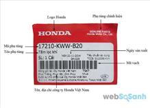 Cách phân biệt lọc gió xe máy Honda thật giả