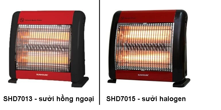 Đèn sưởi hồng ngoại và halogen khác nhau ở điểm gì?