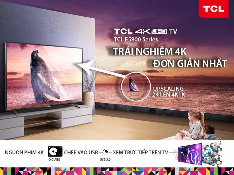 Thiết kế sang trọng, đẳng cấp của tivi TCL màn hình 55 inch