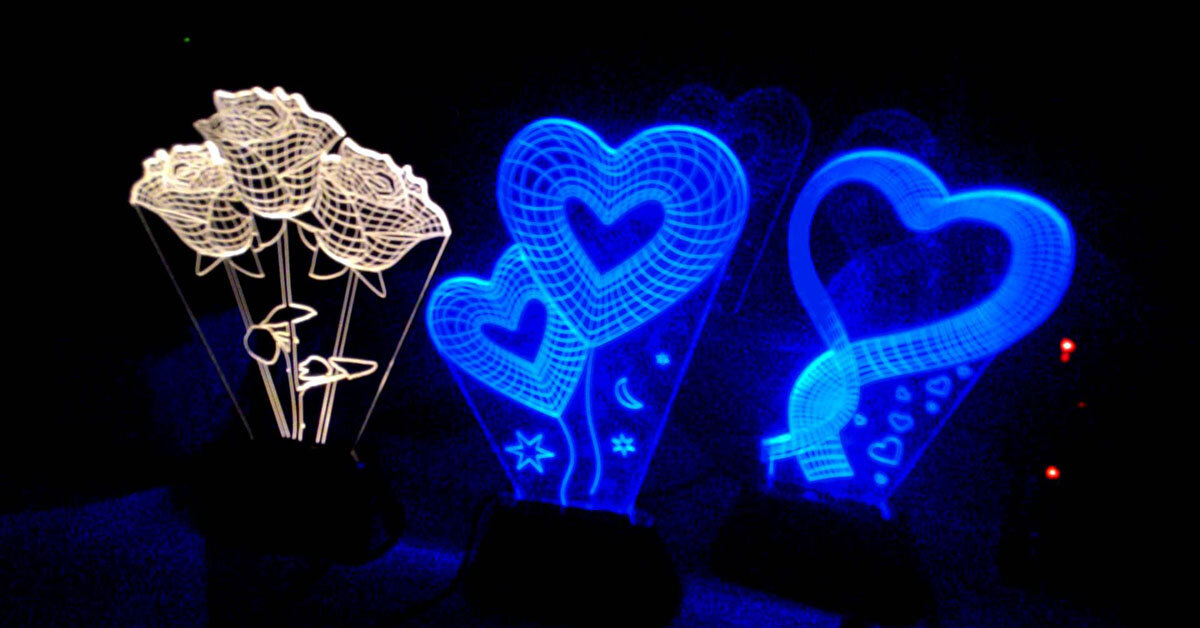 Đèn ngủ 3D món quà tuyệt vời cho bạn bè
