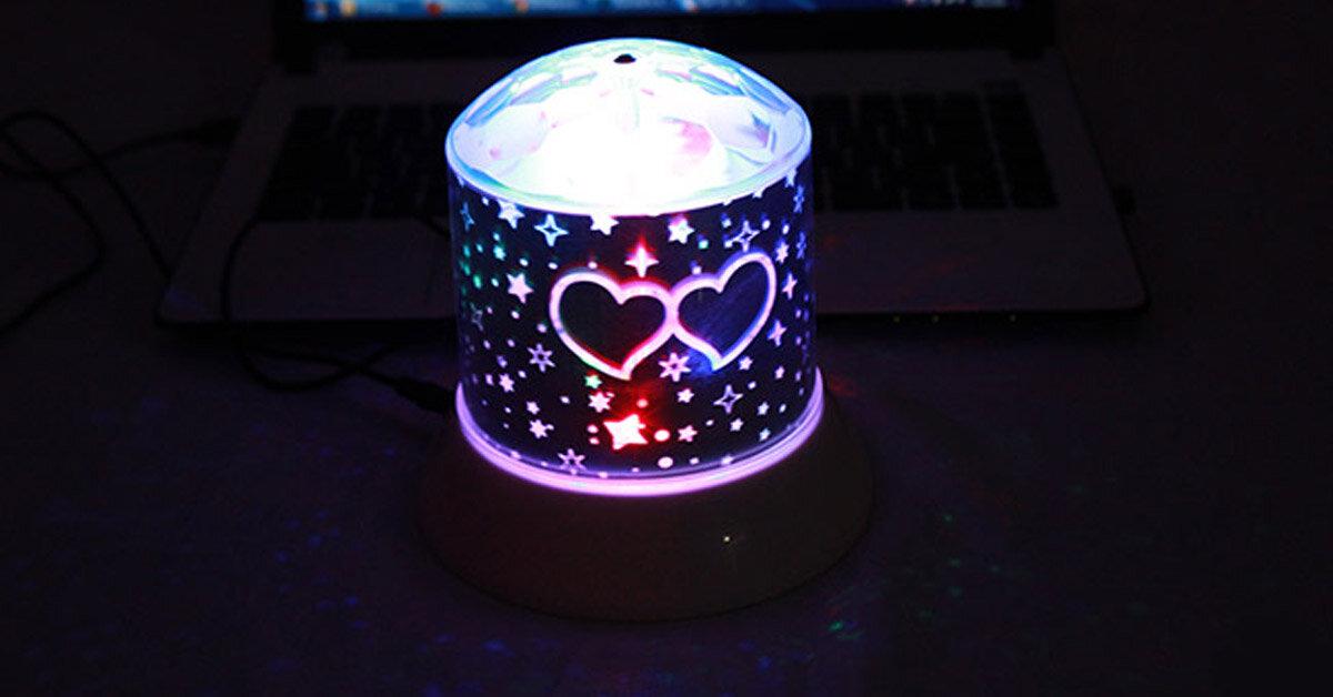 Đèn ngủ chiếu sao món quà đáng yêu cho bé