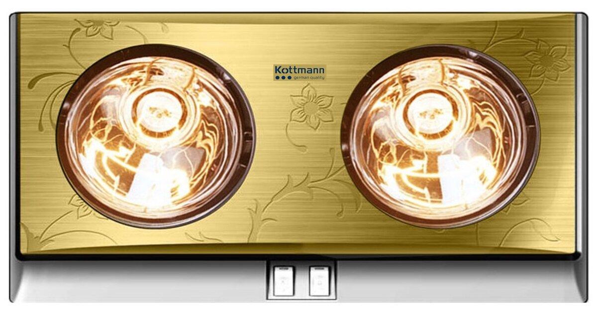 Đèn sưởi nhà tắm 2 bóng giá rẻ, uy tín, chất lượng chỉ từ 400.000 đồng mua ở đâu ?