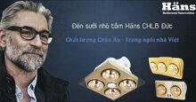 Đèn sưởi nhà tắm Hans 4 bóng âm trần rẻ nhất là bao nhiêu ? Mua ở đâu ?