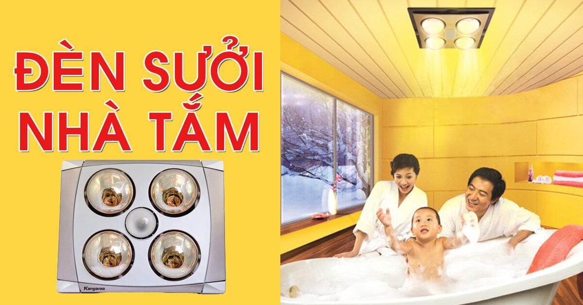 Đèn sưởi nhà tắm Kangaroo âm trần 4 bóng có an toàn không ?