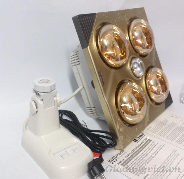 Đèn sưởi nhà tắm Kottmann K4B-G – Đẹp, bền và nhiều chức năng