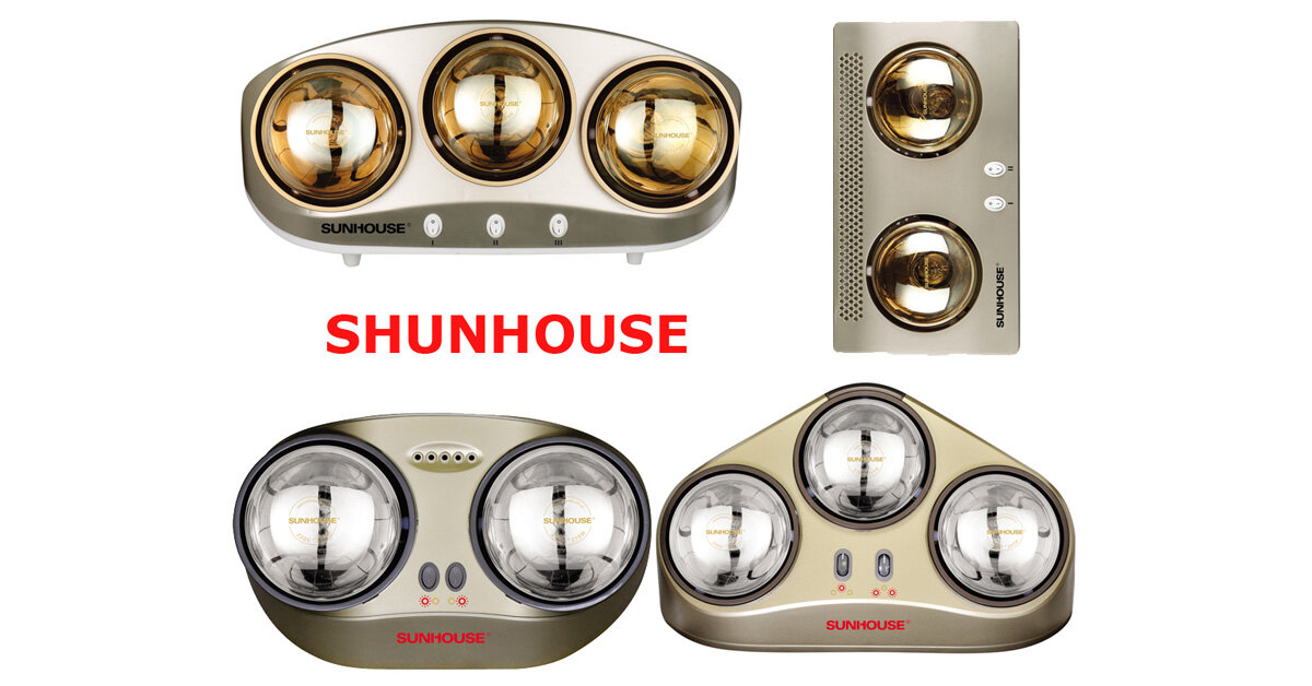 Đèn sưởi nhà tắm Sunhouse có những loại nào ? loại nào tốt nhất ?