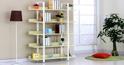 Bán kệ tủ sách đa năng giá rẻ có khung bằng sắt và đợt gỗ