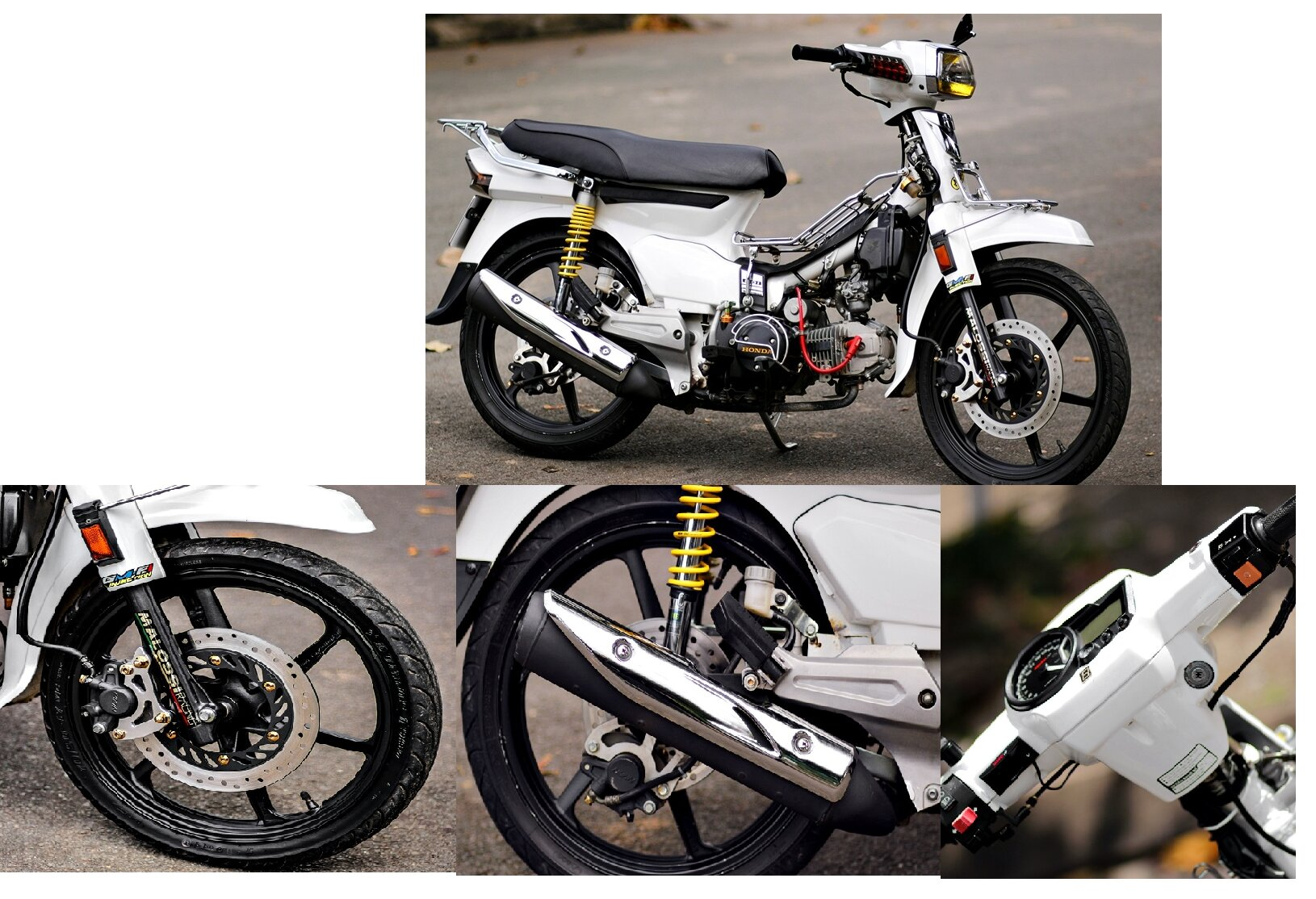 Điểm danh một số mẫu độ xe Honda Dream phong cách của biker Việt