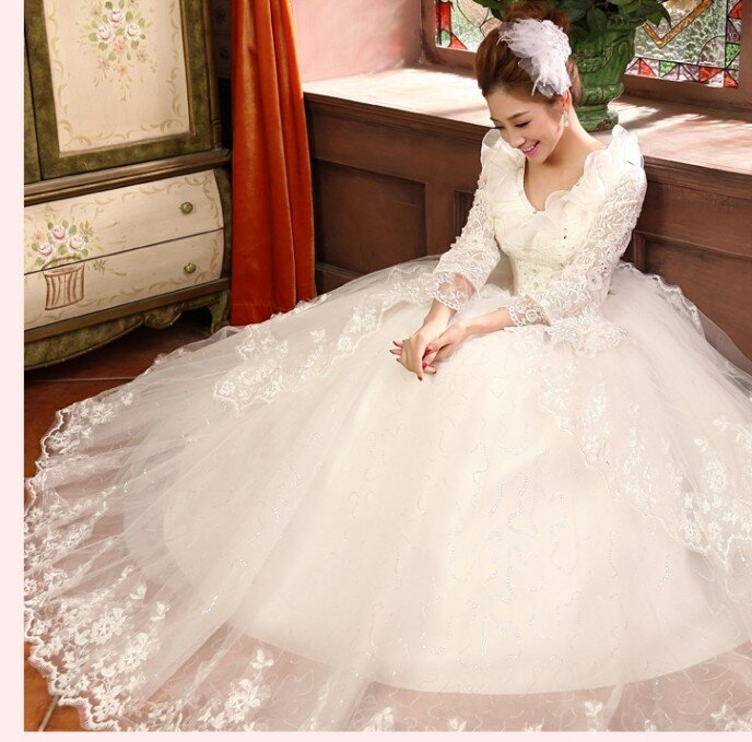 Điểm danh những mẫu váy cưới thu đông mà mọi cô gái đều ao ước