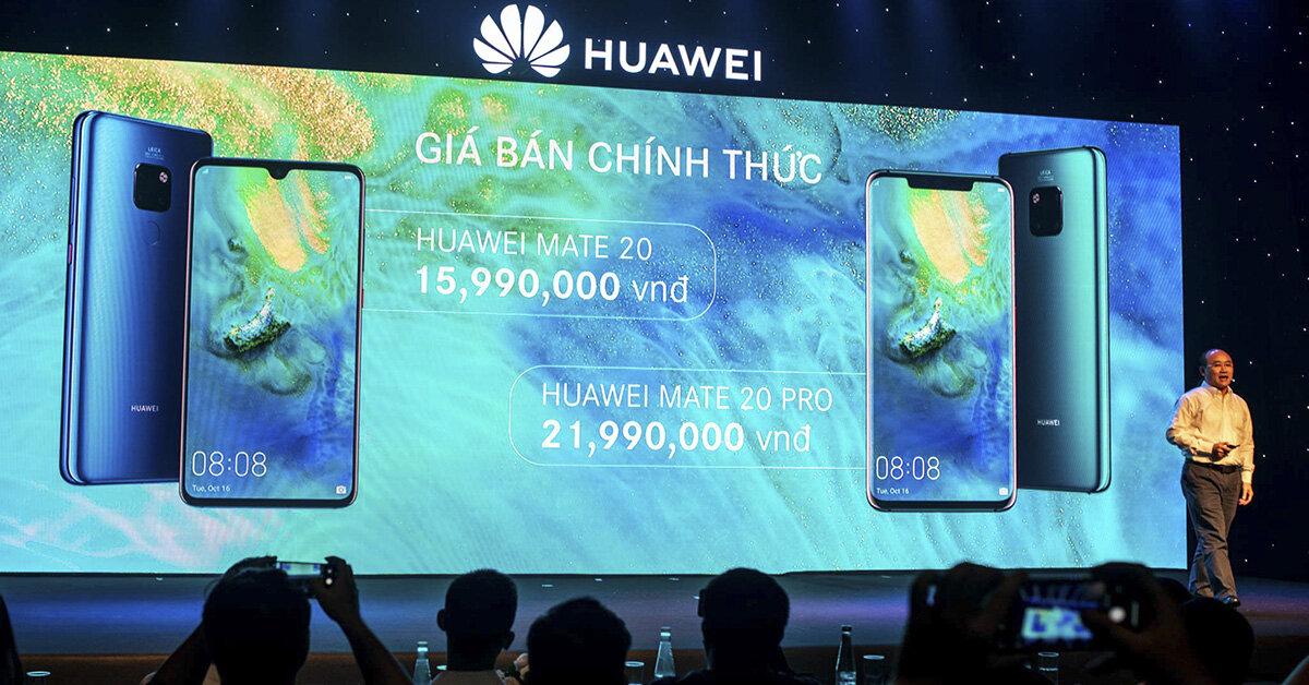 Điện thoại Huawei Mate 20 và Mate 20 Pro ra mắt tại Việt Nam: Giá chỉ từ 15,9 triệu đồng – Nhận quà 10 triệu
