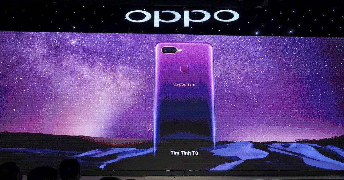 Điện thoại Oppo F9 ra mắt phiên bản màu tím, giá không đổi 7,69 triệu đồng