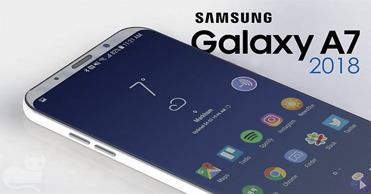 Điện thoại Samsung Galaxy A7 2018 trang bị 3 camera mặt sau lộ giá bán trước ngày ra mắt