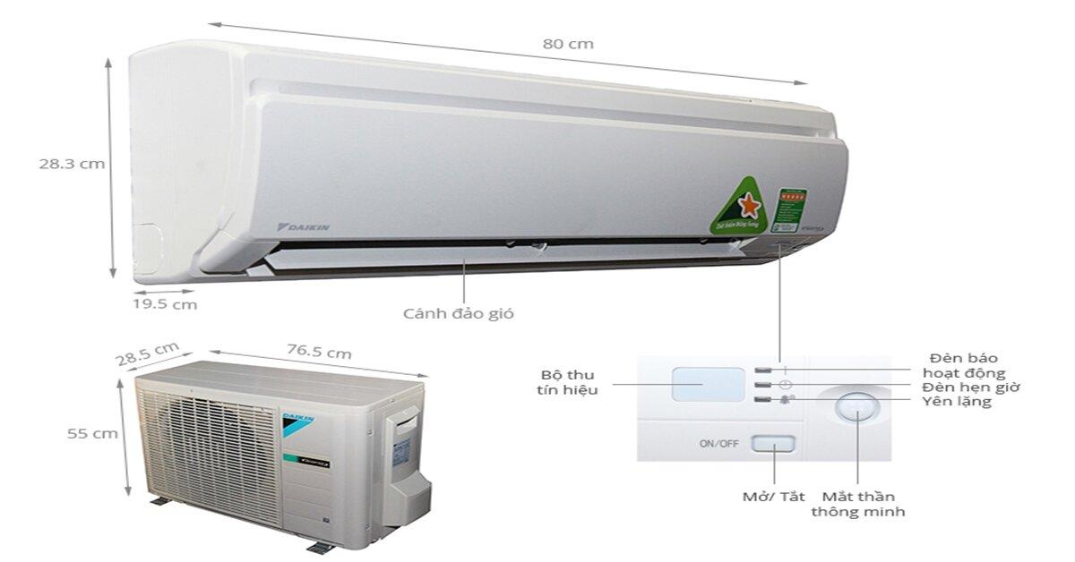 Điều hòa 1 chiều 8500 btu inverter FTKS25GVMV có tốt không ?