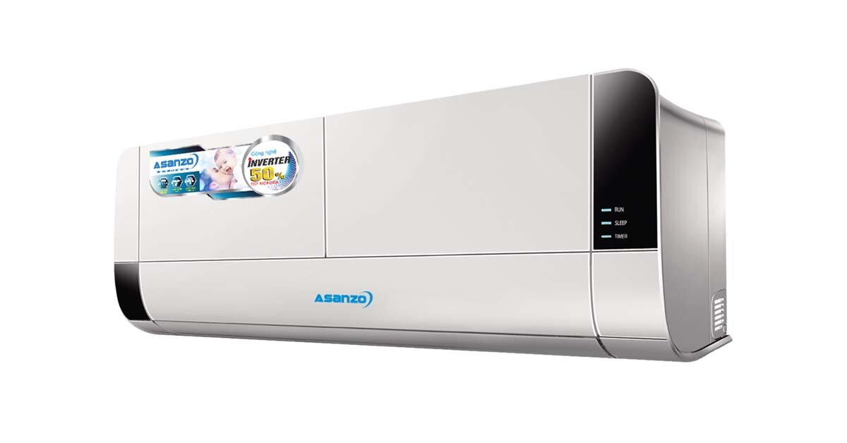 Điều hòa Asanzo inverter K9 – dòng điều hòa tiết kiệm điện cho các phòng có diện tích nhỏ
