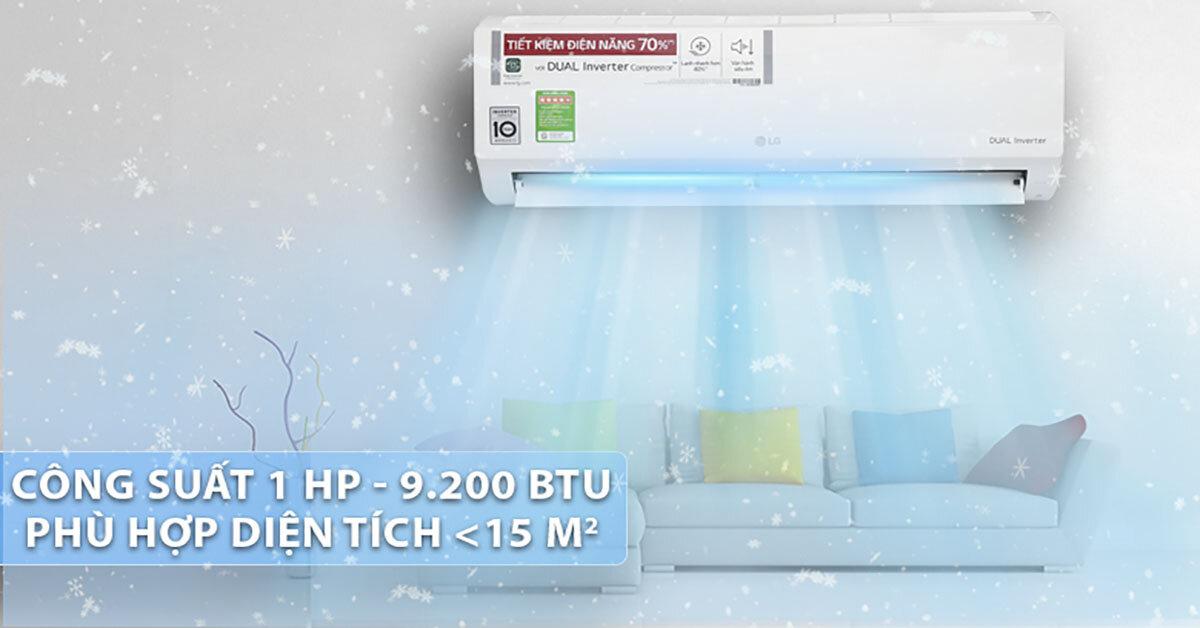 Điều hoà LG inverter 1 chiều 9000btu V10ENW sử dụng có tốt không ?