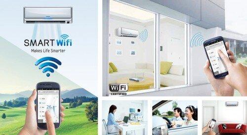 Điều khiển điều hòa Gree bằng smartphone với máy lạnh inverter wifi 2017