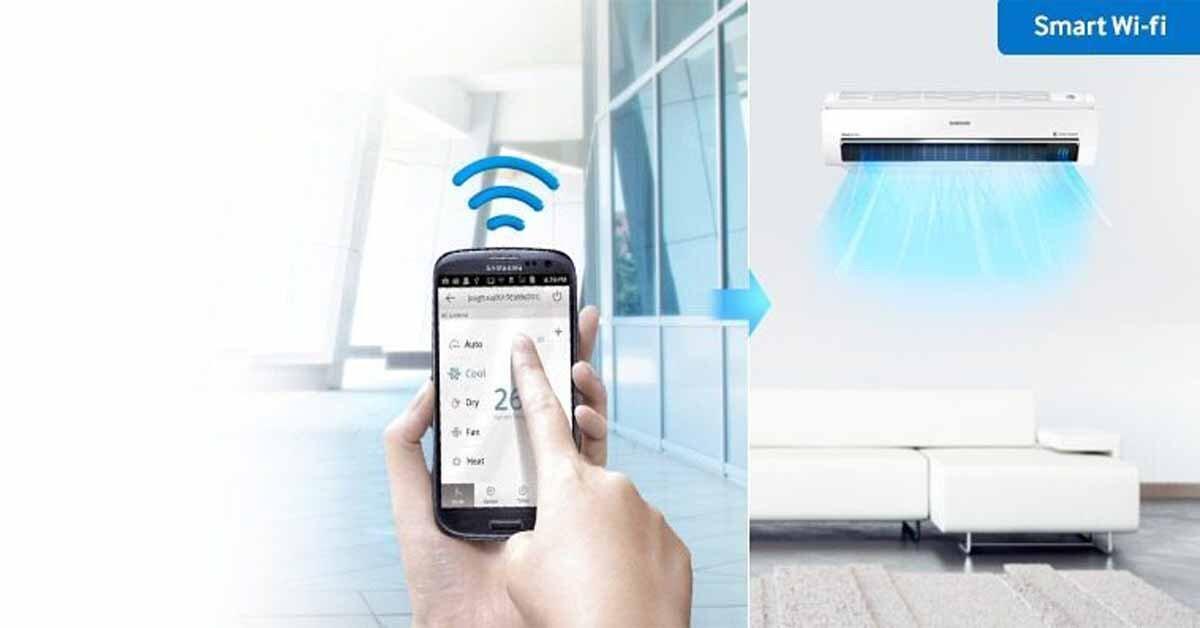 Điều khiển điều hòa Samsung wifi bằng smartphone