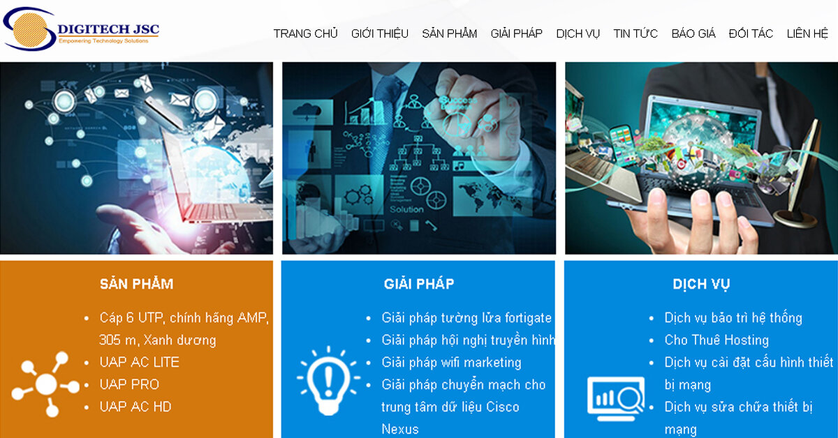 DIGITECH JSC – Nhà phân phối thiết bị mạng và giải pháp công nghệ số toàn diện