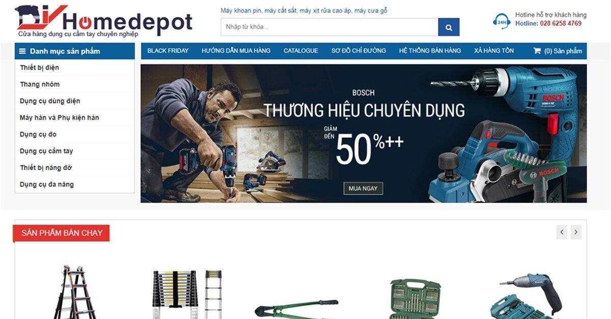DIYhomedepot – Chuỗi cửa hàng dụng cụ điện cầm tay chính hãng