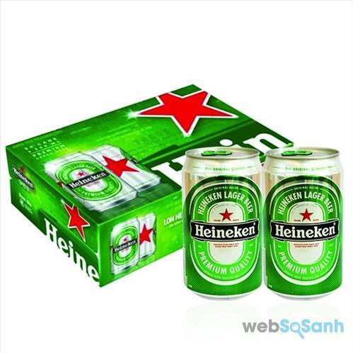 Giá bia Heineken lon