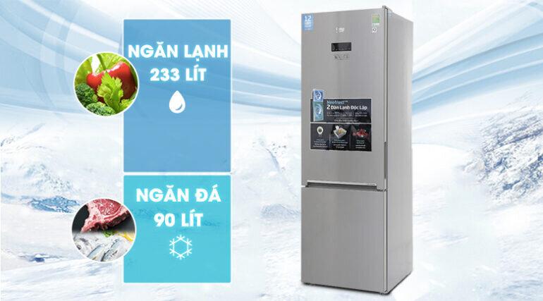 Tủ lạnh Beko Inverter 323 lít RCNT340E50VZX - Giá tham khảo khoảng 8 triệu vnđ