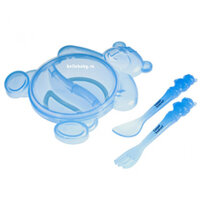 Đồ dùng ăn dặm Canpol Babies 2/422 – Bộ đồ ăn hình gấu dễ thương và sạch sẽ