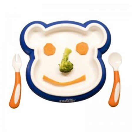 Đồ dùng ăn dặm Farlin BF-240A - Bộ đồ ăn xinh xắn hình gấu