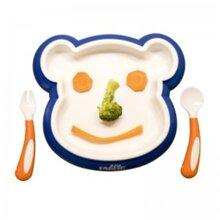 Đồ dùng ăn dặm Farlin BF-240A – Bộ đồ ăn xinh xắn hình gấu