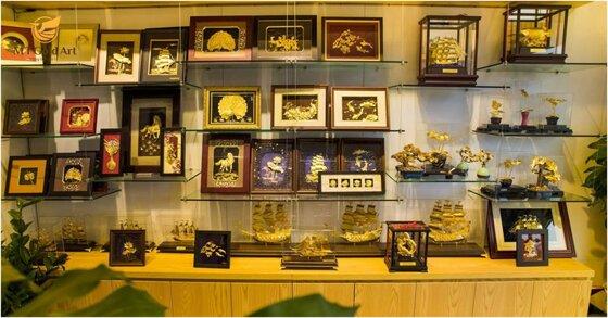 Đơn vị phân phối sản phẩm quà tặng dát vàng , mạ vàng cao cấp MT Gold Art