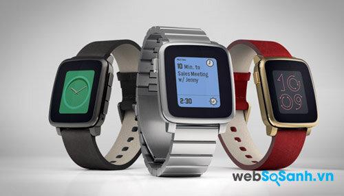 Đồng hồ thông minh Pebble Time Steel được ra mắt sử dụng vỏ thép không gỉ