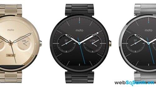 Dòng sản phẩm dây đeo kim loại của Motorola Moto 360 gây mê hoặc mọi ánh mắt