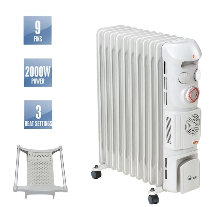 Đối với máy sưởi dầu 9 thanh, sản phẩm này phù hợp với diện tích khoảng 15m2 hoặc nhỏ hơn.