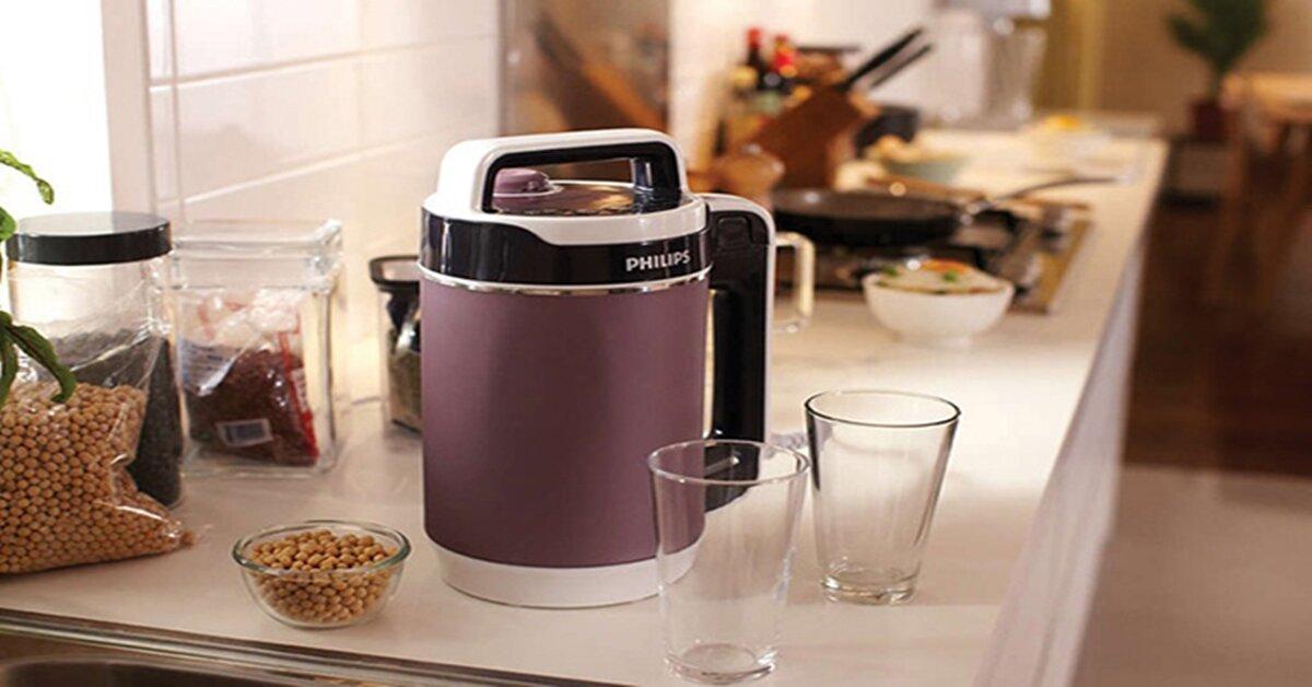 Dùng máy làm sữa đậu nành để phục vụ cả gia đình những ly sữa thơm ngon, bổ dưỡng
