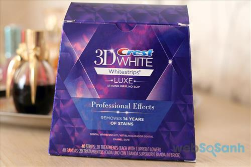 Miếng dán trắng răng Crest 3D White Luxe Professional Effects Whitestrips
