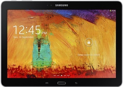 Front view of Samsung Galaxy Note 10.1