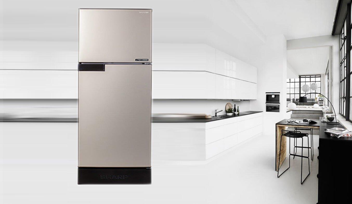 Tủ lạnh Sharp SJ-16VF3 có kiểu dáng đơn giản
