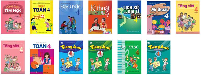 sách giáo khoa lớp 4