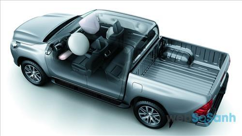 Hệ thống túi khí trên Toyota Hilix