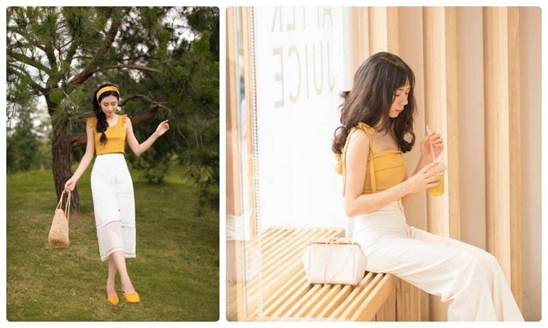 váy vàng hot trend
