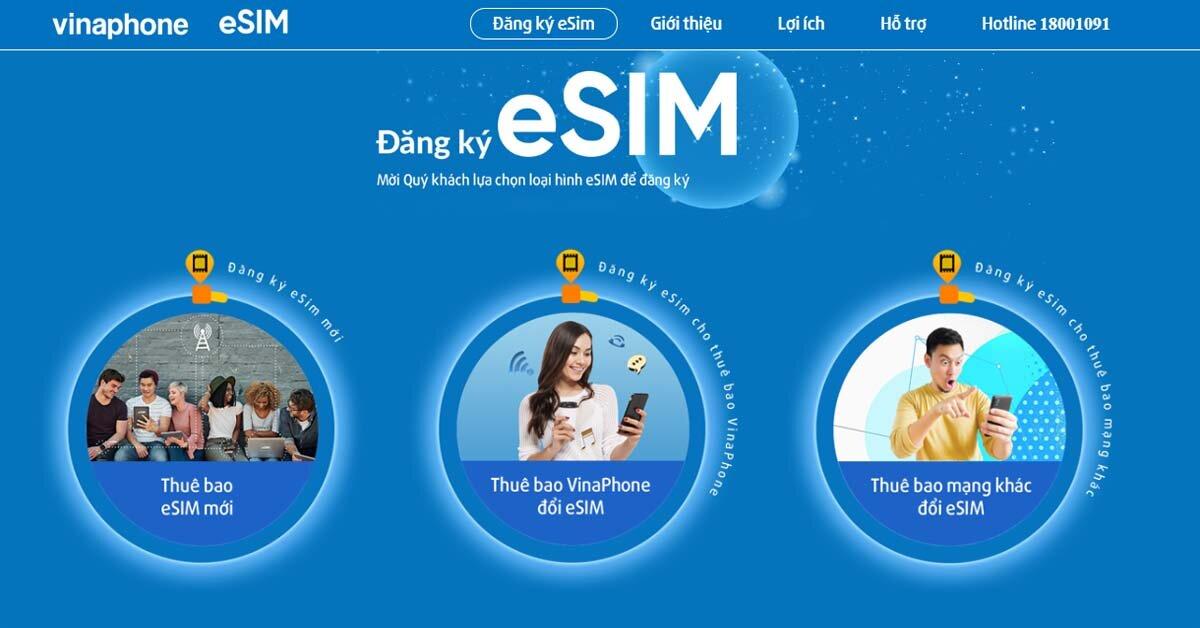 eSIM Vinaphone giá bao nhiêu tiền và đăng ký mua ở đâu?